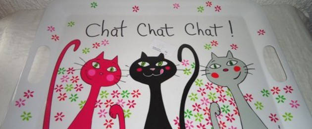 Servierbrett CHAT CHAT CHAT!